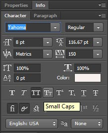 All CAPtion text in photoshop